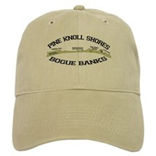 Pine Knoll Shores NC - Waves Design Baseball Cap