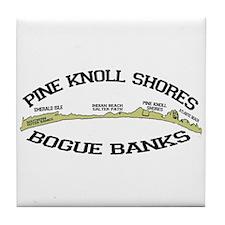 Pine Knoll Shores NC - Waves Design Tile Coaster