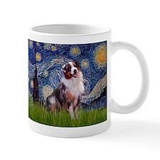 Starry Night & Australian Shepherd 1 Mug