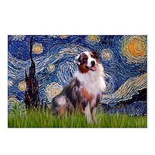 Starry Night Australian Shep Postcards (Pack of 8)