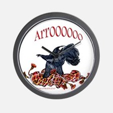 Arroo Scottish Terrier Wall Clock