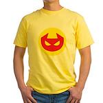 Simple Devil Icon Yellow T-Shirt