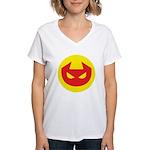 Simple Devil Icon Women's V-Neck T-Shirt