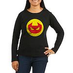 Simple Devil Icon Women's Long Sleeve Dark T-Shirt