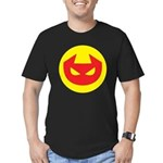 Simple Devil Icon Men's Fitted T-Shirt (dark)