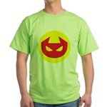 Simple Devil Icon Green T-Shirt
