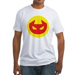 Simple Devil Icon Fitted T-Shirt