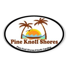 Pine Knoll Shores NC - Palm Trees Design Decal