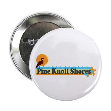 "Pine Knoll Shores NC - Beach Design 2.25"" Button"