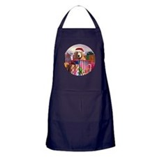Golden Retriever Claus Apron (dark)