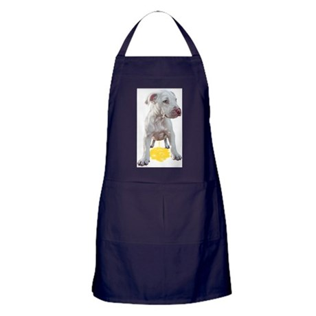 Pit Bull Puppy Piddles OOPS! Apron (dark)