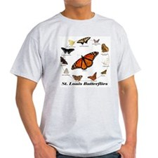 St.Louis Butterflies Ash Grey T-Shirt