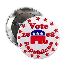 Vote Republican Stars Button 2008