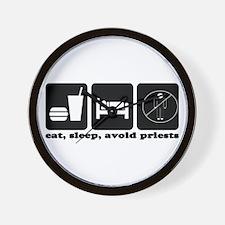Eat, Sleep, Avoid Priests Wall Clock