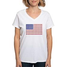 Polar Bear Patriotic Flag Print Shirt