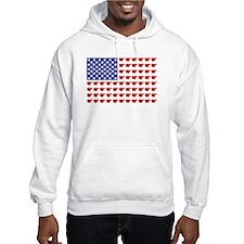 Polar Bear Patriotic Flag Print Hoodie