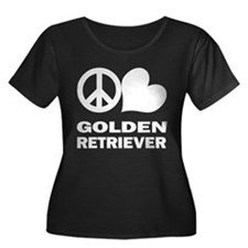 Peace Love Golden Retriever T