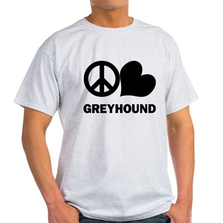 Peace Love Greyhound Light T-Shirt