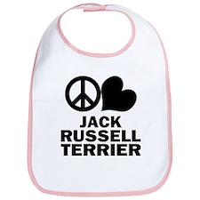Peace Love Jack Russell Terrier Bib