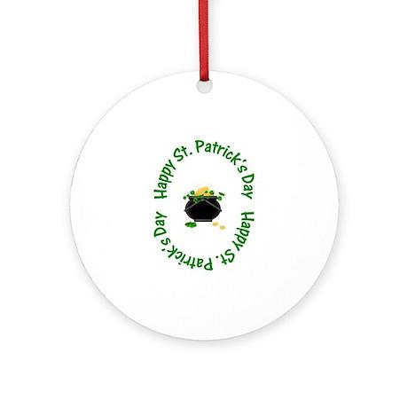 Happy St. Patrick's Day (pot o' gold) Ornament (Ro