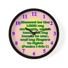 Psalm 144:1 Wall Clock