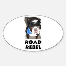 ROAD REBEL Oval Decal
