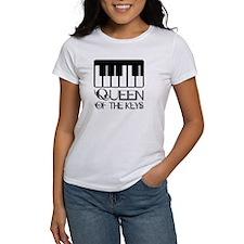 Piano Queen Of Keys Tee