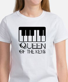 Piano Queen Of Keys Tee