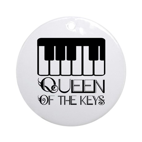 Piano Queen Of Keys Ornament (Round)
