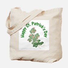 Happy St. Patrick's Day (shamrocks) Tote Bag