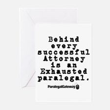 Behind Every Successful Attor Greeting Cards (Pk o