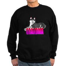 Black Siberian Husky Grandma Sweatshirt