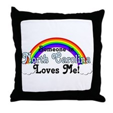 Someone in NC Loves Me Throw Pillow