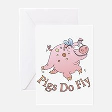 Pigs Do Fly Greeting Card