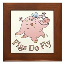 Pigs Do Fly Framed Tile
