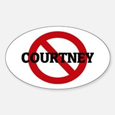 Anti-Courtney Oval Decal