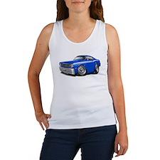 Duster Blue-White Car Women's Tank Top