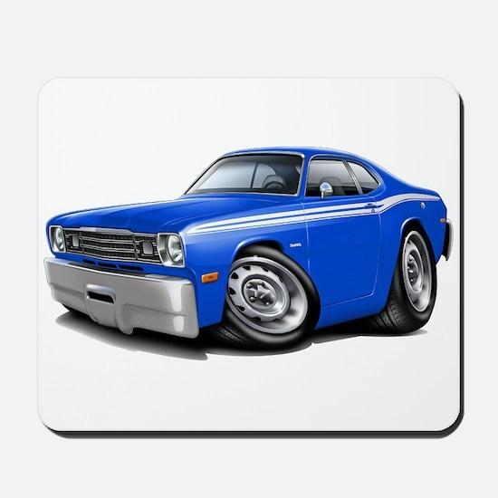 Duster Blue-White Car Mousepad