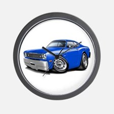 Duster Blue-White Car Wall Clock