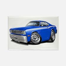 Duster Blue-White Car Rectangle Magnet