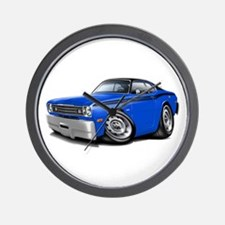Duster Blue-Black Top Car Wall Clock