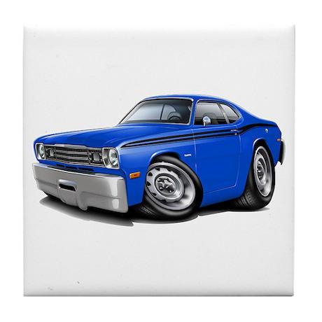 Duster Blue-Black Car Tile Coaster