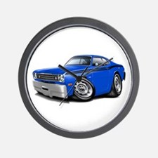 Duster Blue-Black Car Wall Clock