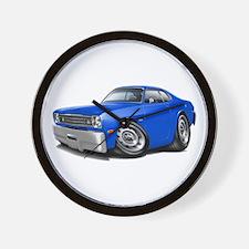 Duster Blue Car Wall Clock