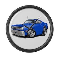 Duster Blue Car Large Wall Clock
