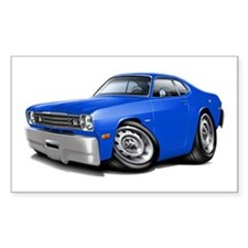 Duster Blue Car Decal