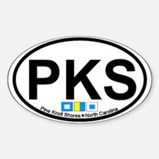 Pine Knoll Shores NC - Oval Design Sticker (Oval)