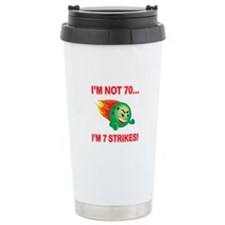 70th Bday Strikes Travel Mug