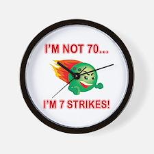 70th Bday Strikes Wall Clock