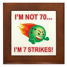 70th Bday Strikes Framed Tile